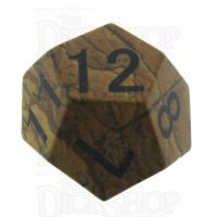 TDSO Jasper Picture 16mm Precious Gem D12 Dice