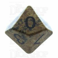 TDSO Jasper Picture 16mm Precious Gem D10 Dice