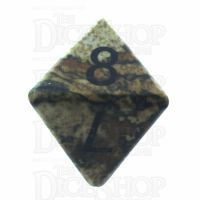 TDSO Jasper Picture 16mm Precious Gem D8 Dice