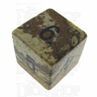 TDSO Jasper Picture 16mm Precious Gem D6 Dice