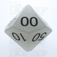 TDSO Quartz Snow 16mm Precious Gem Percentile Dice