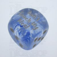 Chessex Nebula Dark Blue Don't Touch My Dice! Logo D6 Spot Dice