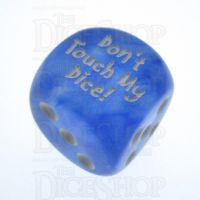 Chessex Borealis Sky Blue Don't Touch My Dice! Logo D6 Spot Dice