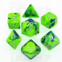 D&G Toxic Slime Green & Blue 7 Dice Polyset