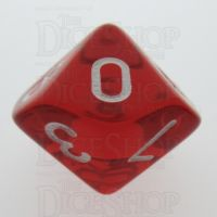 TDSO Bright Gem Ruby D10 Dice