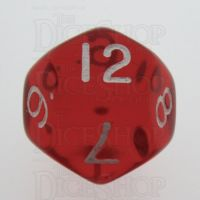 TDSO Bright Gem Ruby D12 Dice