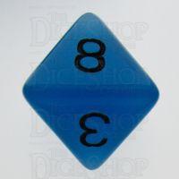 TDSO Frost Blue Glow in the Dark D8 Dice