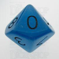 TDSO Frost Blue Glow in the Dark D10 Dice