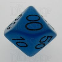 TDSO Frost Blue Glow in the Dark Blue Percentile Dice