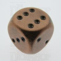 TDSO Metal Antique Copper Finish 16mm D6 Spot Dice
