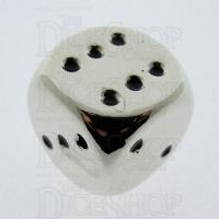 TDSO Metal Polished Silver Finish 16mm D6 Spot Dice