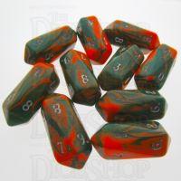 Crystal Caste Toxic Chemical 10 x D10 Dice Set