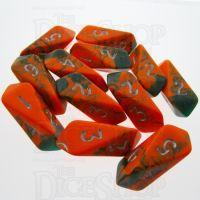 Crystal Caste Toxic Chemical 12 x D6 Dice Set