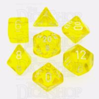 Chessex Translucent Yellow & White 7 Dice Polyset