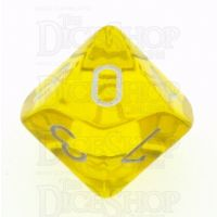 Chessex Translucent Yellow & White D10 Dice