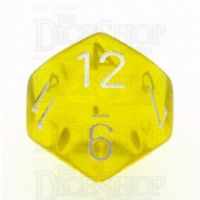 Chessex Translucent Yellow & White D12 Dice