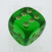 Koplow Glow in the Dark Translucent Green 16mm D6 Spot Dice