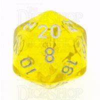 Chessex Translucent Yellow & White D20 Dice