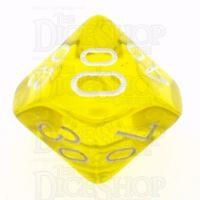 Chessex Translucent Yellow & White Percentile Dice