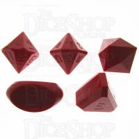 GameScience Opaque Crimson Red Zocchi Originals D3 D5 D14 D16 D24 Dice Set