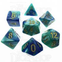 Chessex Gemini Blue & Teal 7 Dice Polyset