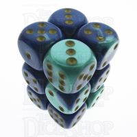 Chessex Gemini Blue & Teal 12 x D6 Dice Set