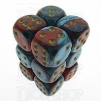 Chessex Gemini Red & Teal 12 x D6 Dice Set