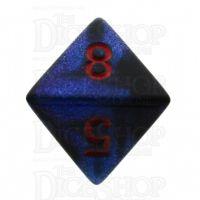 Chessex Gemini Black Starlight & Red D8 Dice