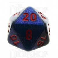 Chessex Gemini Black Starlight & Red D20 Dice