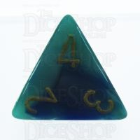 Chessex Gemini Blue & Teal D4 Dice