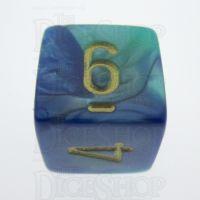 Chessex Gemini Blue & Teal D6 Dice