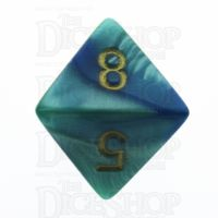 Chessex Gemini Blue & Teal D8 Dice