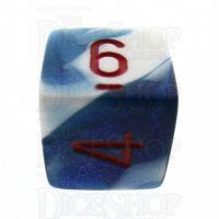 Chessex Gemini Astral Blue & White D6 Dice