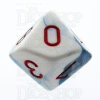 Chessex Gemini Astral Blue & White D10 Dice
