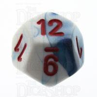 Chessex Gemini Astral Blue & White D12 Dice