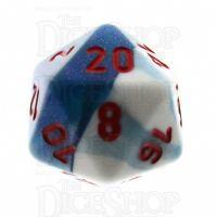 Chessex Gemini Astral Blue & White D20 Dice