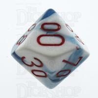Chessex Gemini Astral Blue & White Percentile Dice