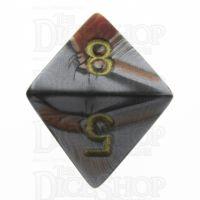 Chessex Gemini Orange & Steel D8 Dice