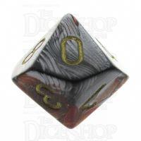 Chessex Gemini Orange & Steel D10 Dice