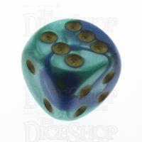 Chessex Gemini Blue & Teal 16mm D6 Spot Dice
