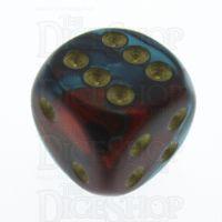 Chessex Gemini Red & Teal 16mm D6 Spot Dice