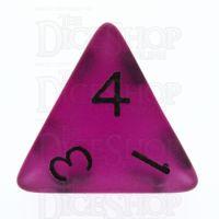 TDSO Frost Purple Glow in the Dark D4 Dice