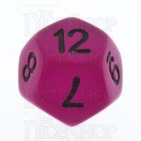 TDSO Frost Purple Glow in the Dark D12 Dice