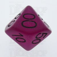 TDSO Frost Purple Glow in the Dark Percentile Dice