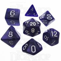 TDSO Pearl Purple & White 7 Dice Polyset
