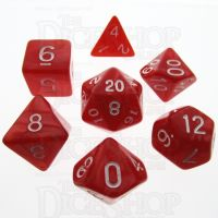 TDSO Pearl Red & White 7 Dice Polyset