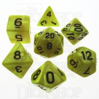 TDSO Pearl Yellow & Black 7 Dice Polyset