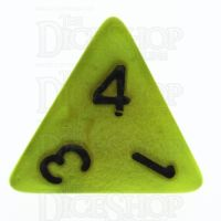 TDSO Pearl Yellow & Black D4 Dice