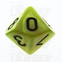 TDSO Pearl Yellow & Black D10 Dice