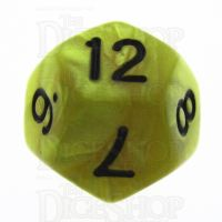 TDSO Pearl Yellow & Black D12 Dice